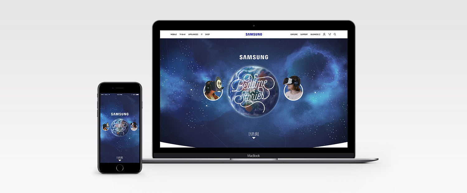 Samsung Bedtime Stories Website Design