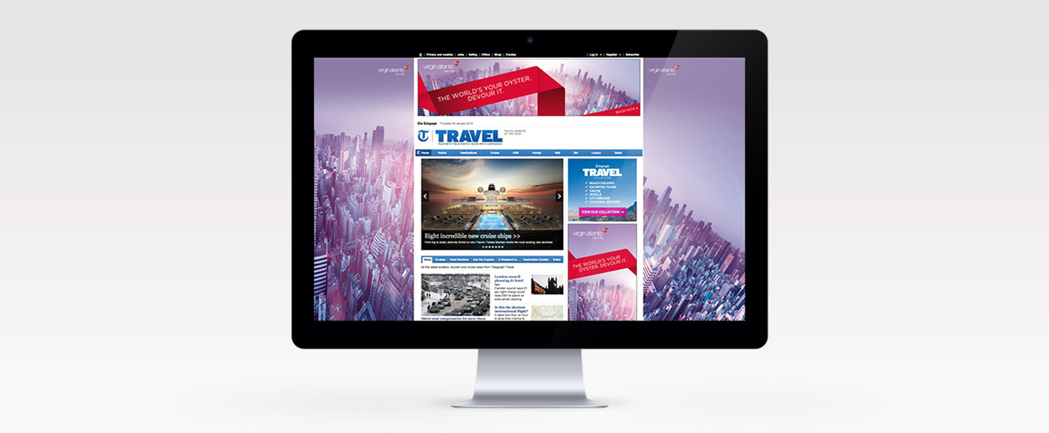 Virgin Atlantic Homepage Takeover Design